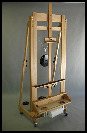 studio easel front view